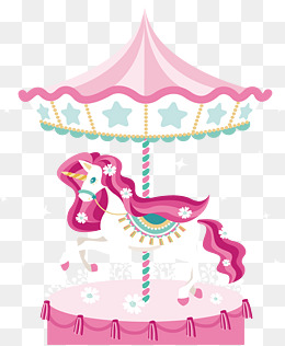 Png images vectors and. Carousel clipart tent circus pink