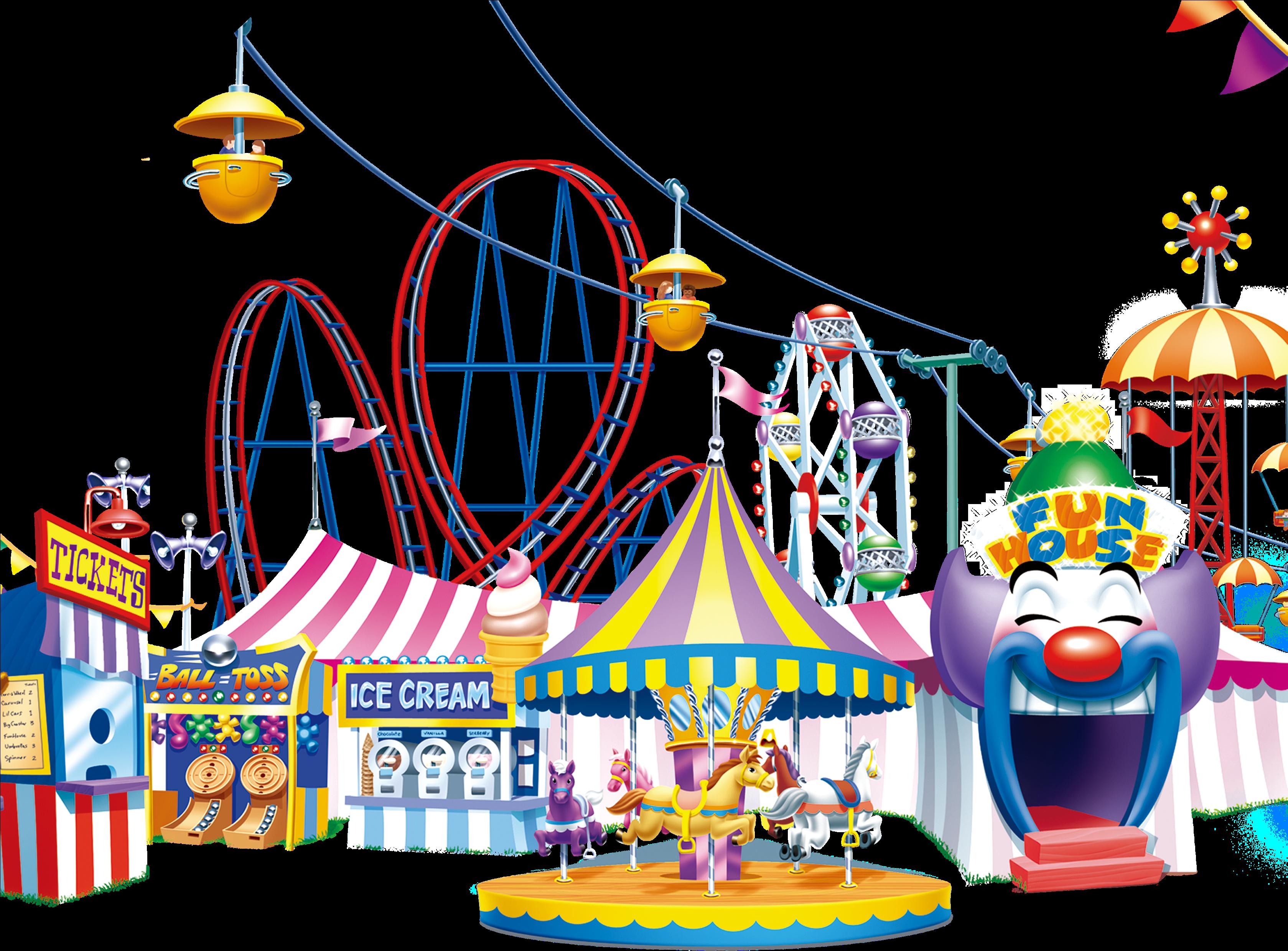 Amusement transparent png . Carousel clipart theme park