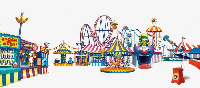 Exclusive design amusement mobile. Carousel clipart theme park