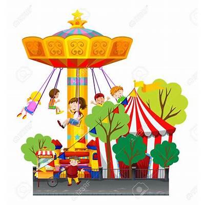 Carousel clipart theme park. Explore carnival swing ride