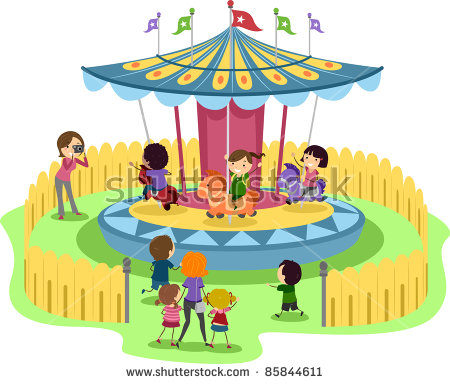 Carousel clipart theme park. Ride fun free pnglogocoloring