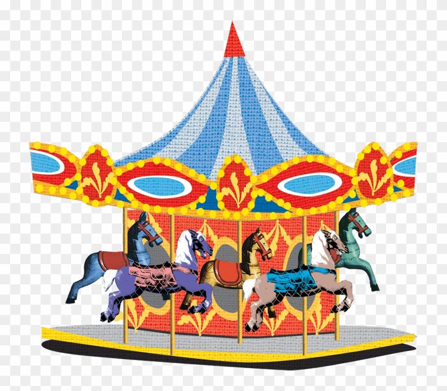 Banner stock amusement recreational. Carousel clipart theme park