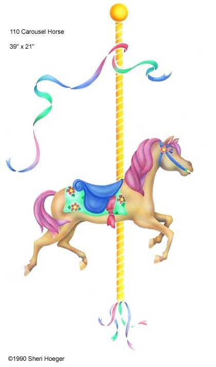 carousel clipart unicorn