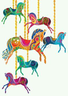 Animal by amanda e. Carousel clipart victorian carousel