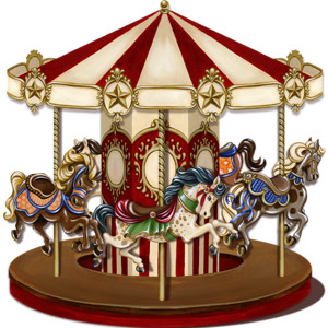 Carousel clipart victorian carousel.  collection of high