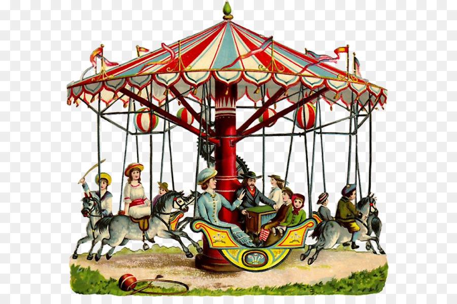 Carousel clipart victorian carousel. Park cartoon clown illustration