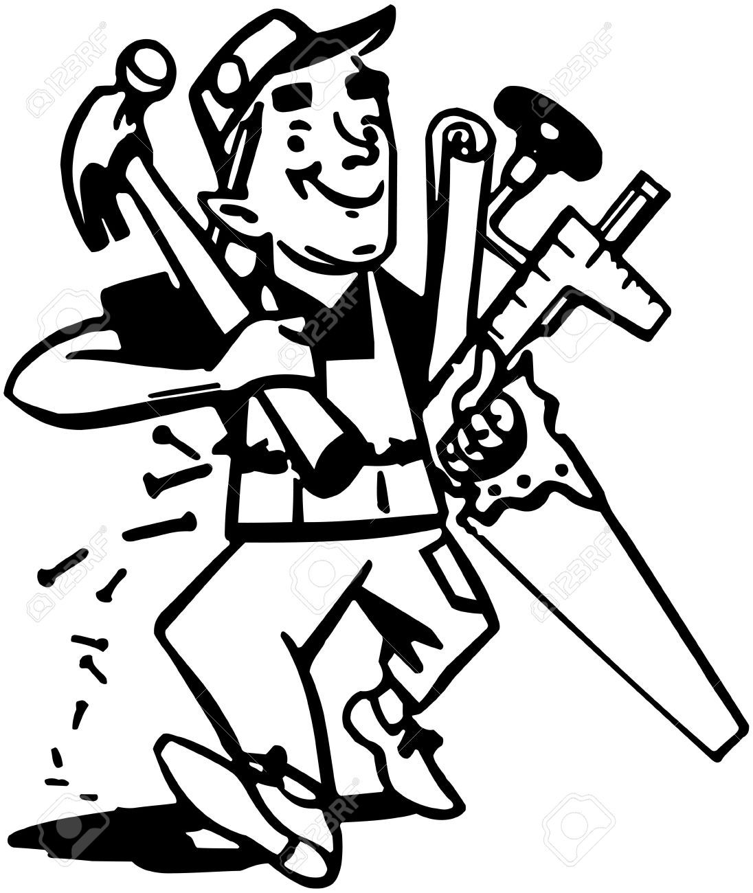 Google search modern heritage. Carpenter clipart black and white