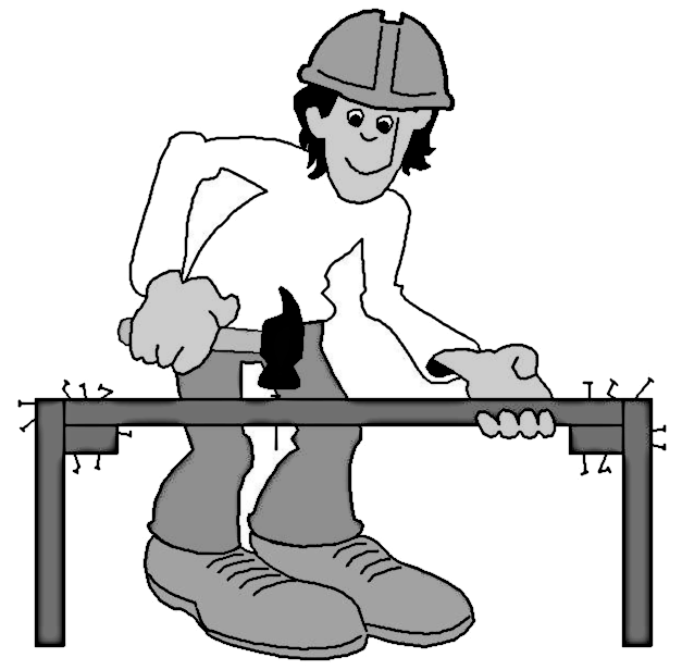 Carpenter panda free images. Carpentry clipart black and white