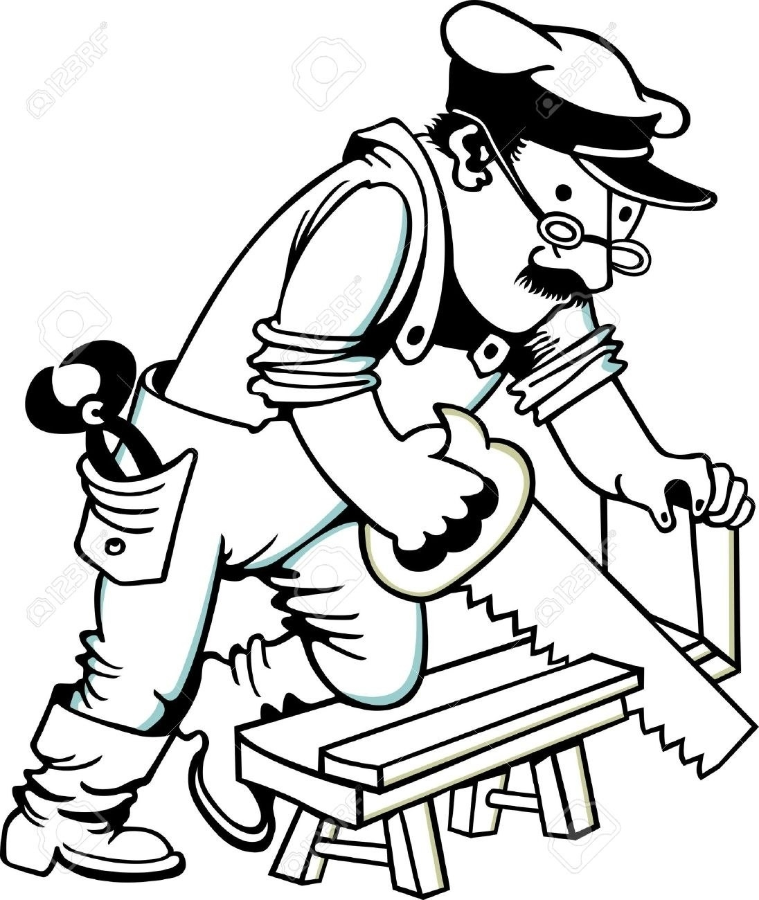 Rudycoby net. Carpenter clipart black and white