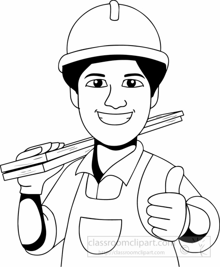 Carpentry clipart black and white. Occupations carpenter classroom blackwhitecarpenterclipartjpg