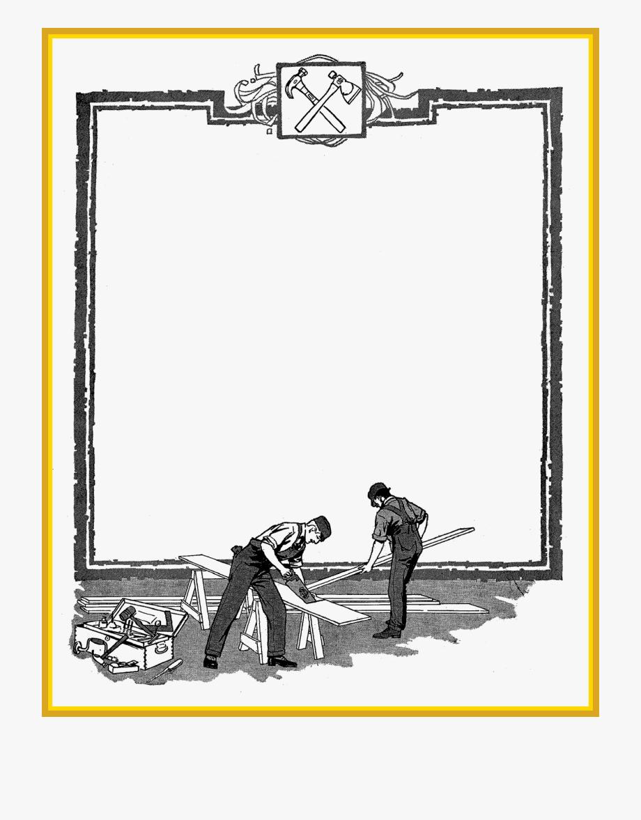 Banner royalty free download. Carpenter clipart border