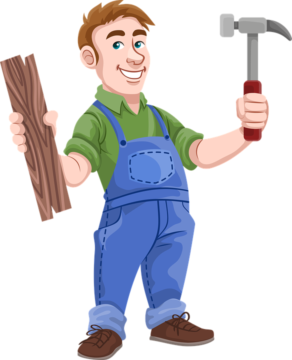 Amish furniture factory blog. Clipart hammer man
