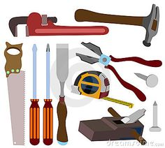 Carpentry clipart hardware tool. Construction tools printables pinterest