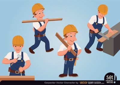 Free carpenter and vector. Carpentry clipart logo