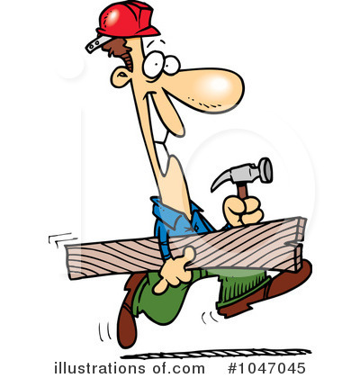 Carpenter clipart carpentry. Illustration by toonaday royaltyfree