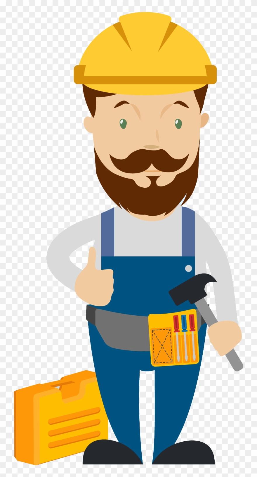 Graphic free stock carpenter. Contractor clipart skilled worker
