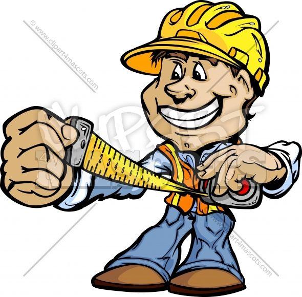 Cartoon logos in . Carpenter clipart construction