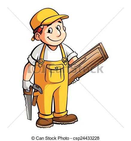 Carpenter clipart construction.  clipartlook