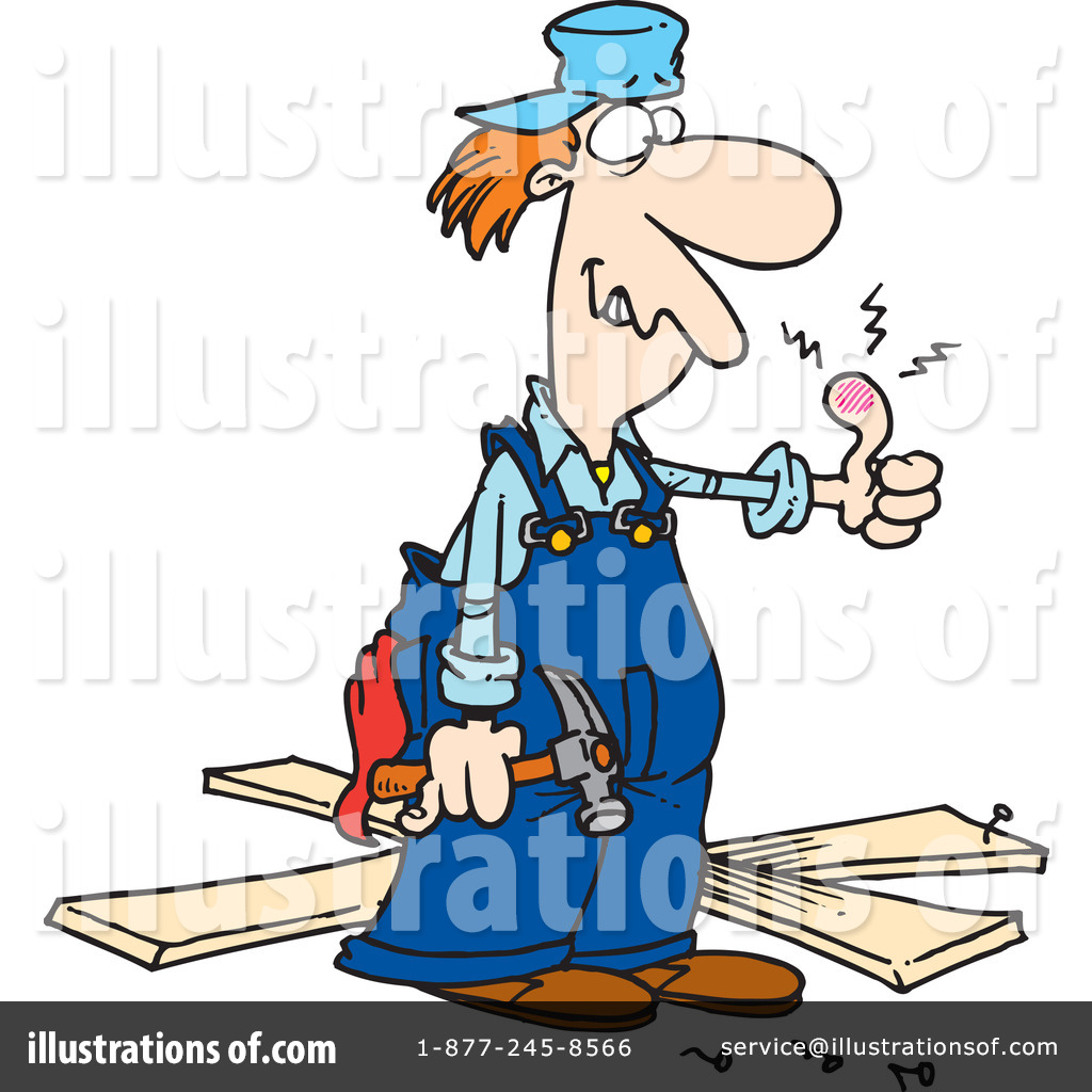 Illustration by toonaday royaltyfree. Carpenter clipart contractor