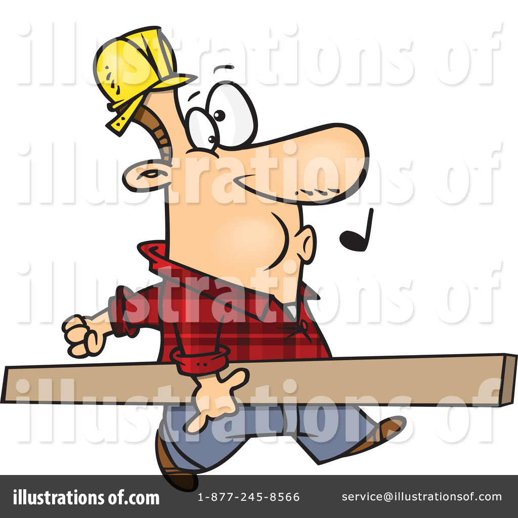Carpenter clipart contractor. Illustration by toonaday royaltyfree
