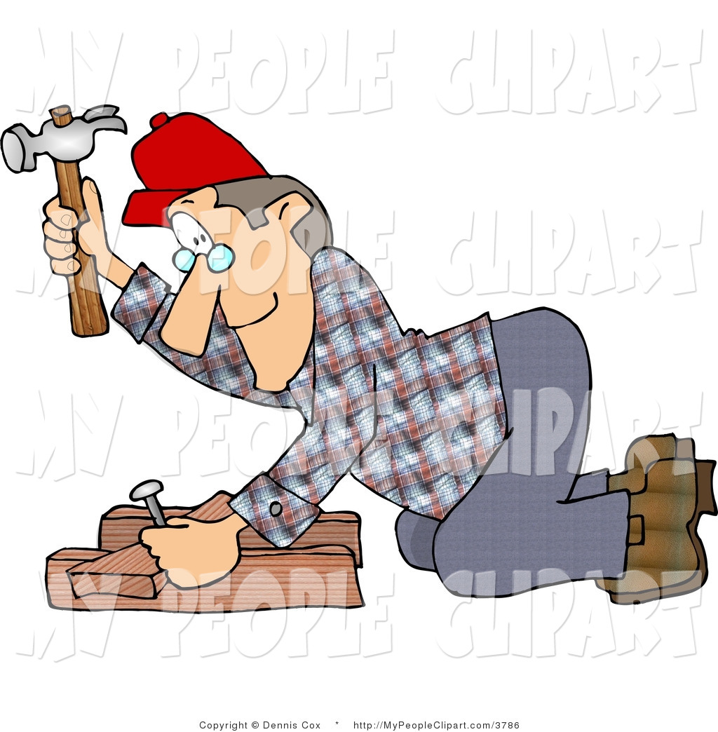 Clip art of a. Carpentry clipart woodworker