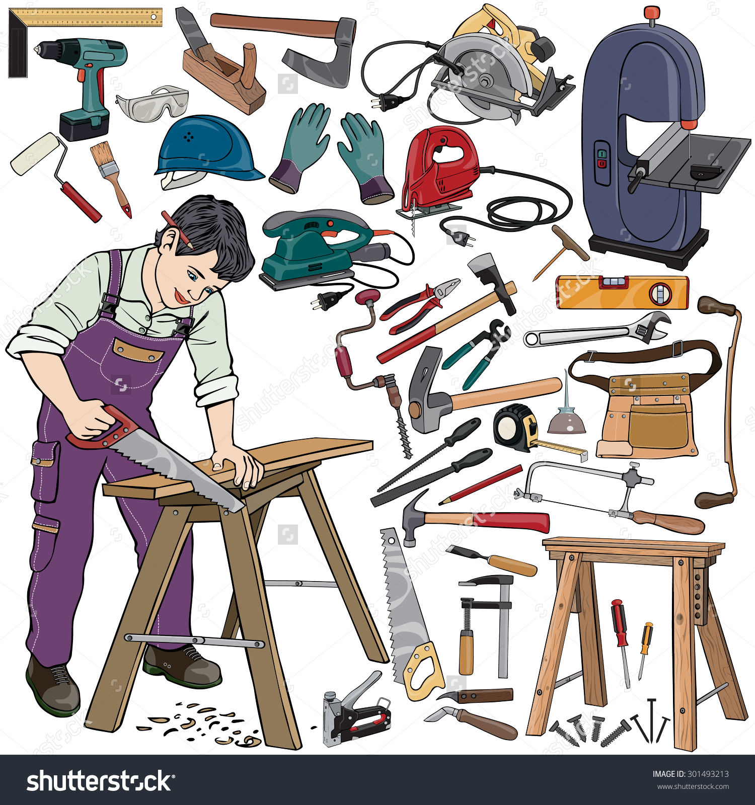 Carpenter images image group. Carpentry clipart equipment