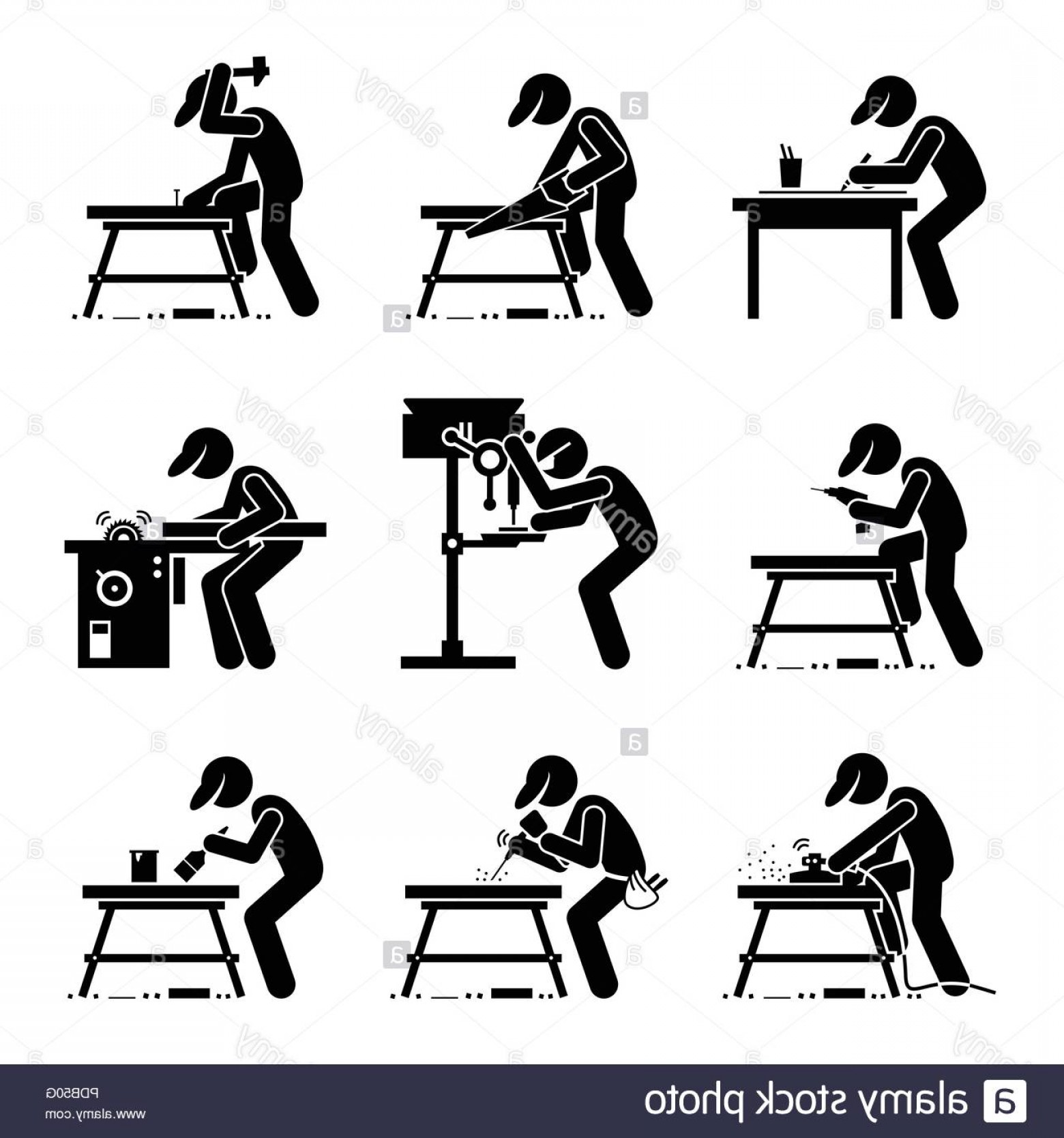 Using woodworking tools and. Carpentry clipart carpenter workshop