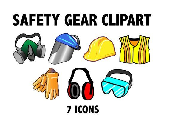 Safety gear construction zone. Carpentry clipart equipment