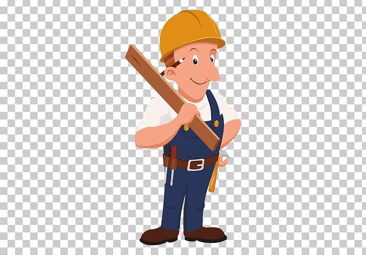 Carpenter clipart equipment. Cartoon laborer png angle