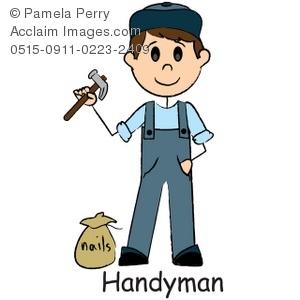 Clip art illustration of. Handyman clipart