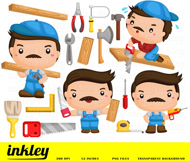 Carpenter clipart job. Occupation clip art png