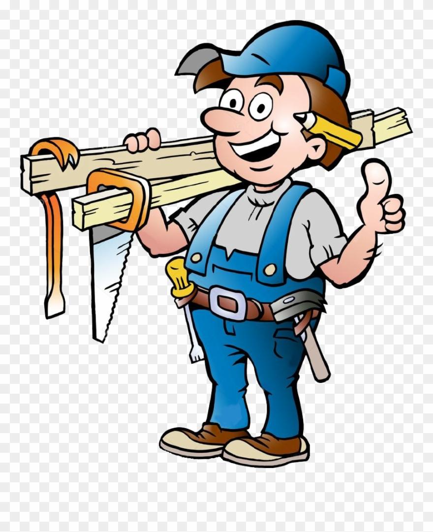Carpenter clipart job. No too small cartoon