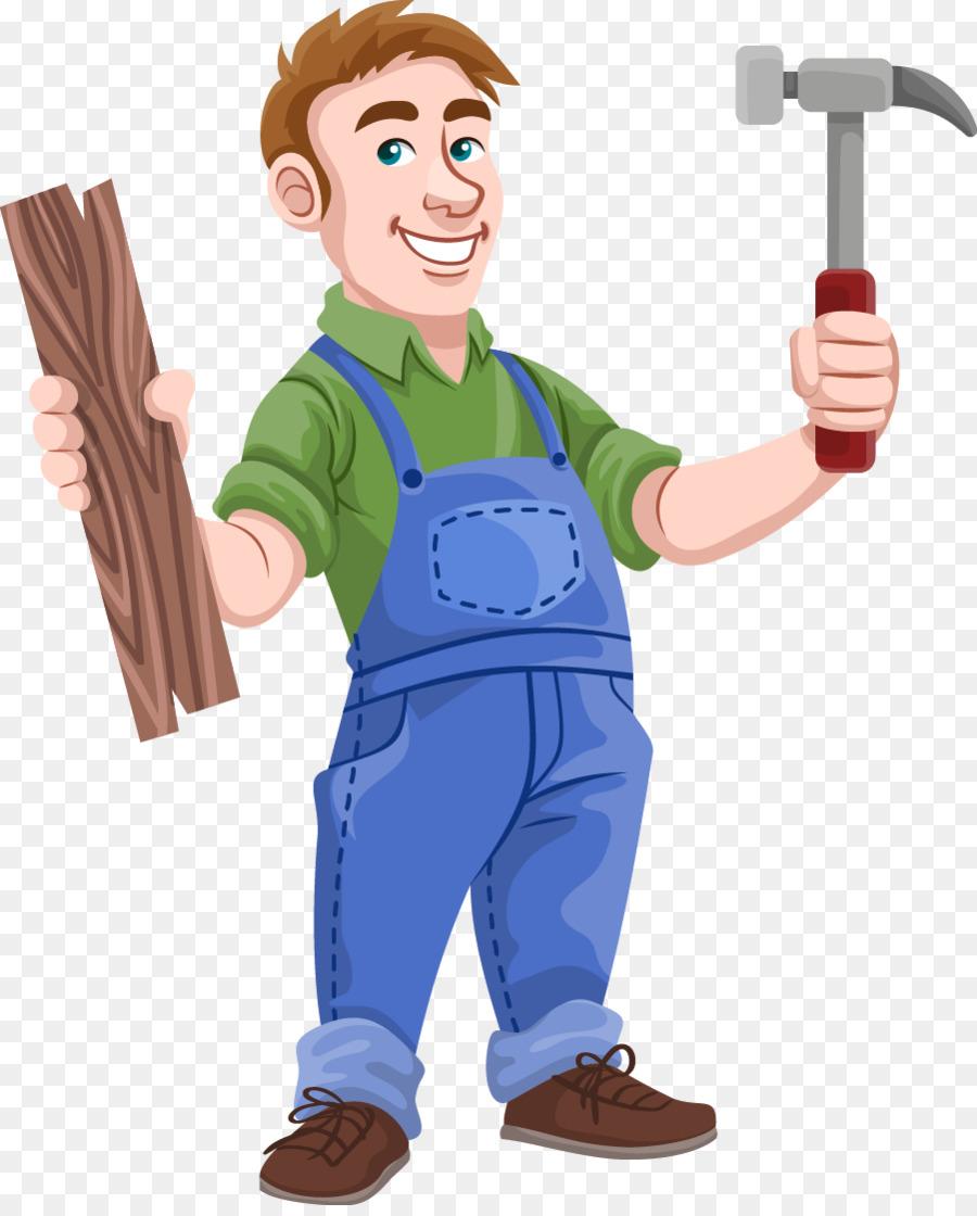 Carpenter clip art male. Carpentry clipart transparent