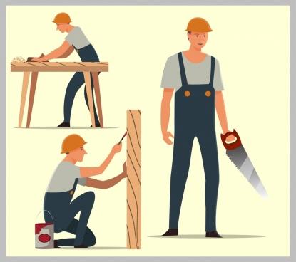 Free carpenter vector download. Carpentry clipart builder