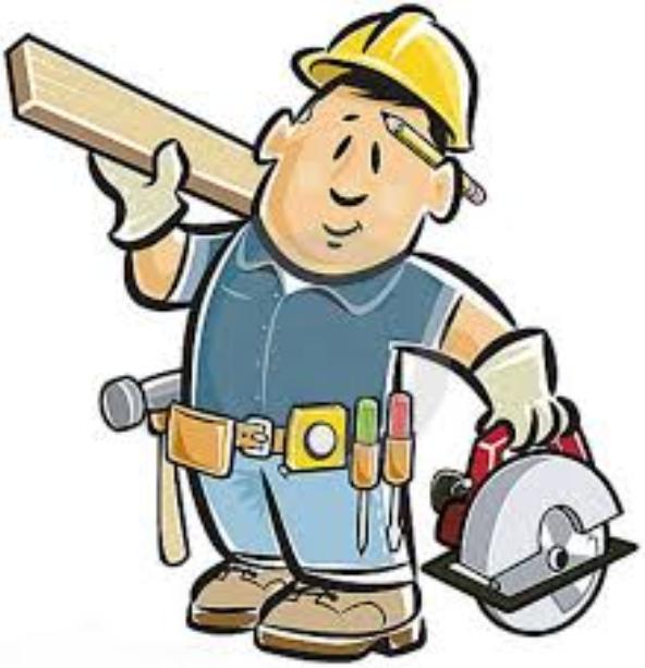 Carpenter clipart male. Home cartoon electrician finger