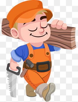 Carpentry clipart clip art. Naked carpenter png vectors