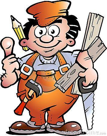 Carpenter by poul carlsen. Handyman clipart