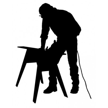 Carpenter clipart silhouette. Awesome silhouettes pinterest
