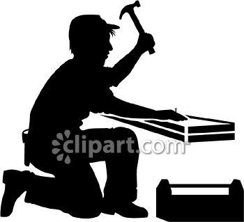 . Carpenter clipart silhouette