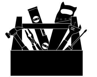 Carpenter clipart silhouette. Svg etsy handyman service