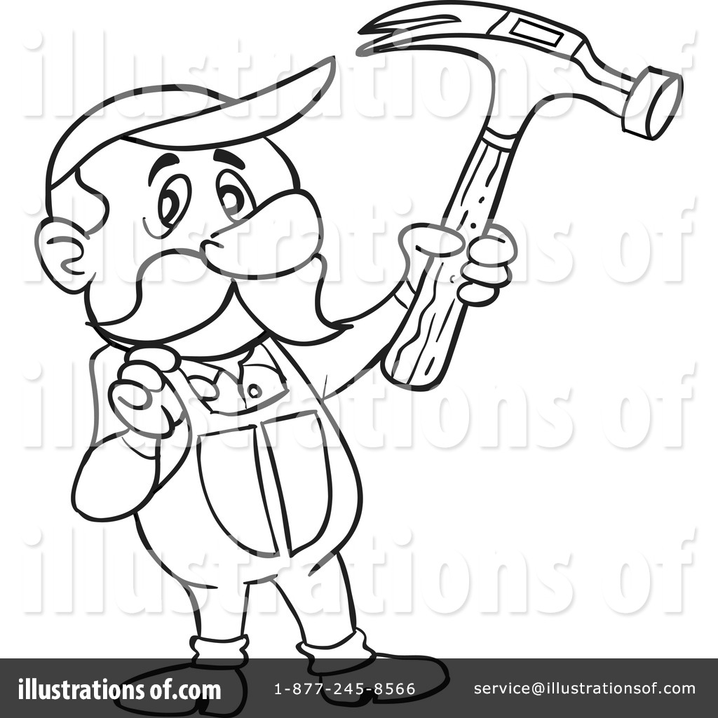 Carpentry clipart cartoon. Carpenter illustration by lafftoon