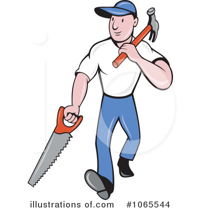 Carpentry clipart woodworker. Carpenter illustration by patrimonio