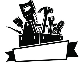 Carpenters tool box etsy. Carpentry clipart wood tech