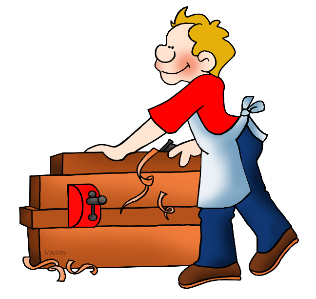 Job clipart woodworking. Occupations clip art by
