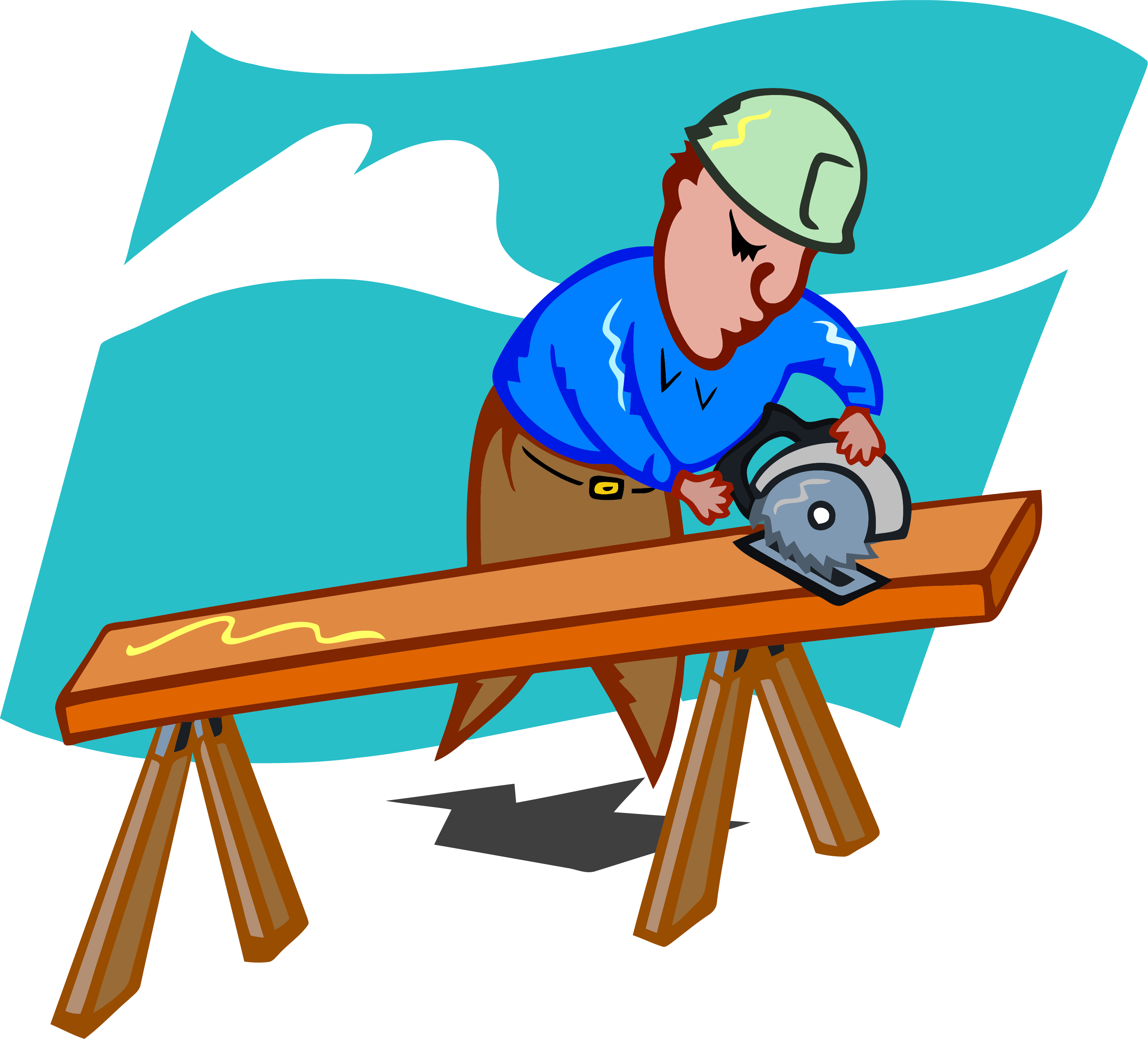 Carpentry clipart builder. Sawing carpenter png clipartlyclipartly