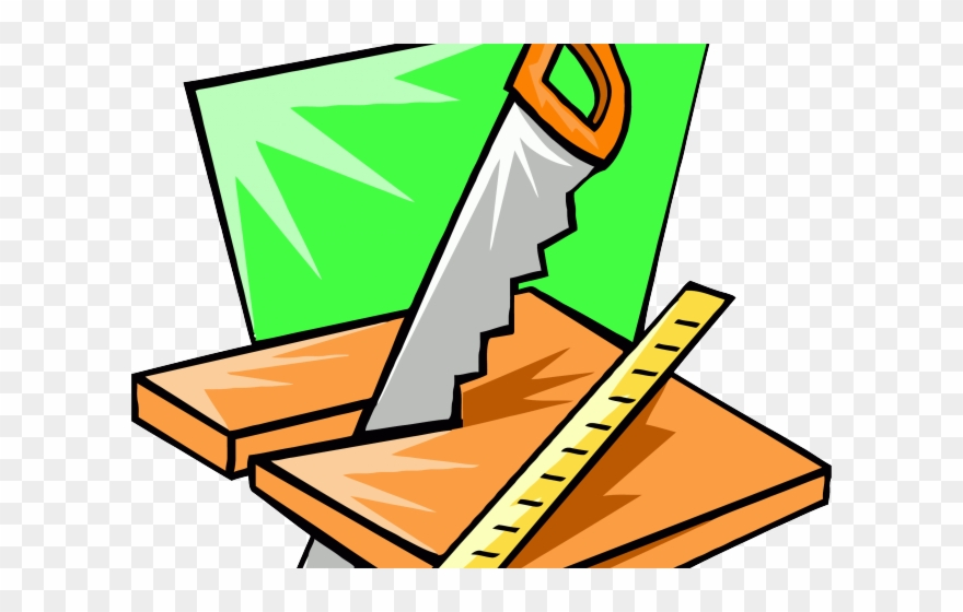 Chainsaw tool how to. Carpenter clipart woodworking