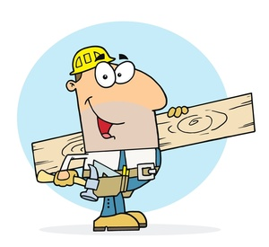Free construction worker image. Carpenter clipart work clipart