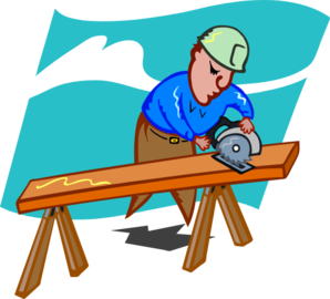 Sawing carpenter clip art. Carpentry clipart