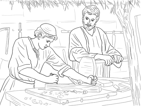 Jesus christ the son. Carpentry clipart black and white