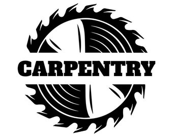 Carpenter svg etsy woodworking. Carpentry clipart black and white